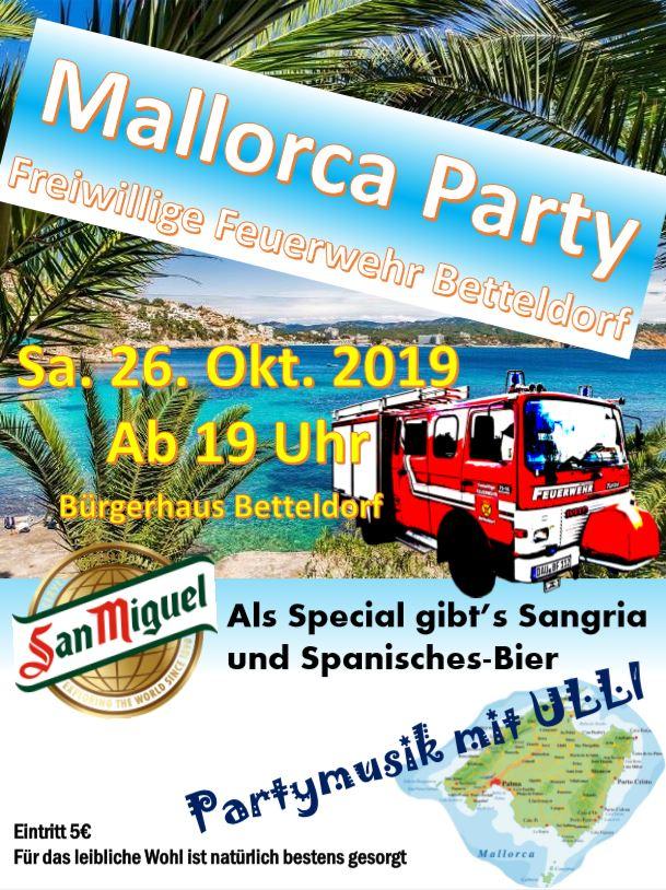 Mallorca Party 26.10.2019